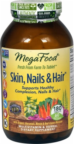 MegaFood  Skin Nails and Hair™ Perspective: front