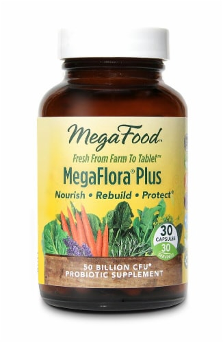 MegaFood  MegaFlora®Plus Perspective: front