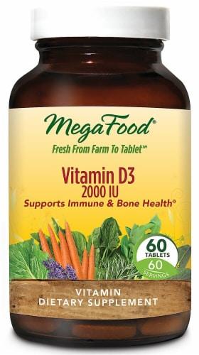 MegaFood Vitamin D3 Tablets 2300 IU Perspective: front