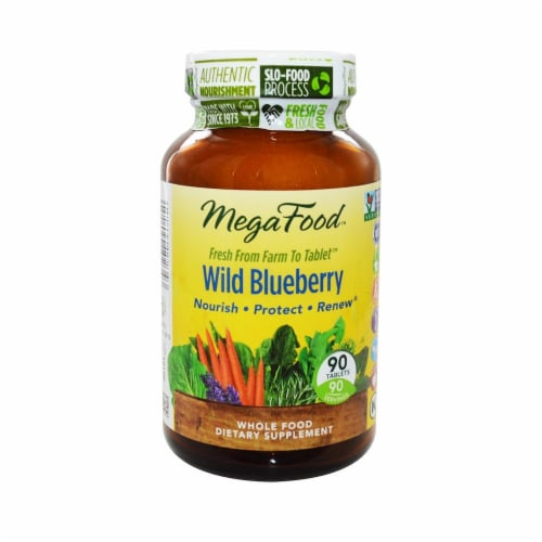 MegaFood  Wild Blueberry Perspective: front