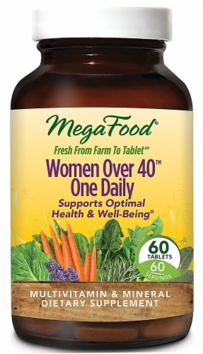 MegaFood  Women Over 40 One Daily™ Tablets Perspective: front