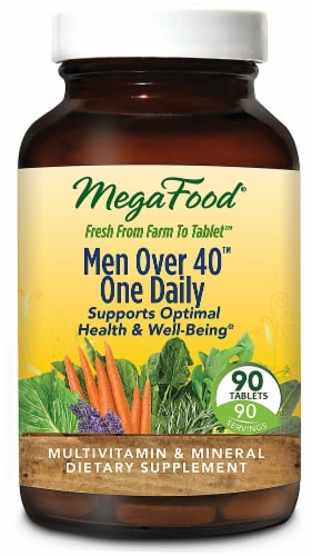 MegaFood  Men Over 40™ One Daily® Perspective: front