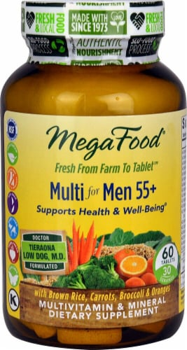 MegaFood  Multi for Men 55+ Perspective: front