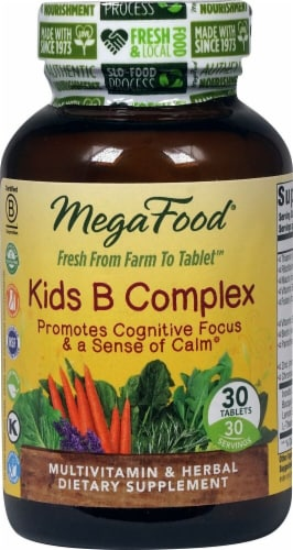 MegaFood  Kid's B Complex Perspective: front