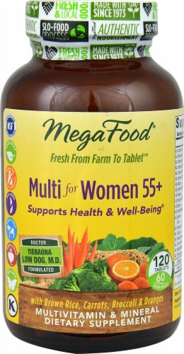 MegaFood Multi for Women 55+ Tablets Perspective: front