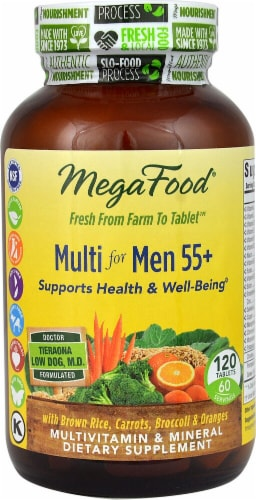 MegaFood Multi for Men 55+ Tablets Perspective: front