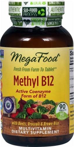 MegaFood Methyl B12 Tablets Perspective: front