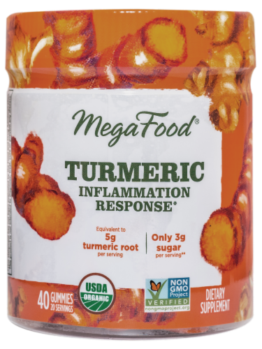 MegaFood Turmeric Inflammation Response Gummies Perspective: front