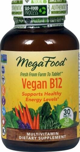 MegaFood Vegan B12 Tablets Perspective: front