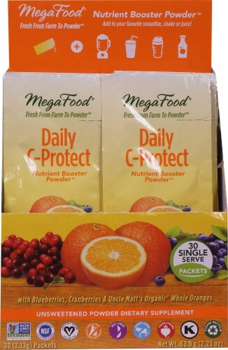 MegaFood  Daily C-Protect Nutrient Booster Powder™ Perspective: front