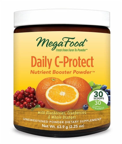 MegaFood  Daily C-Protect Nutrient Booster Powder™ Unsweetened Perspective: front