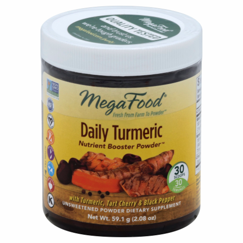 MegaFood Daily Turmeric Nutrient Booster Powder Perspective: front