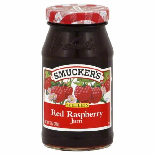 Smucker's Seedless Red Raspberry Jam Spread Perspective: front