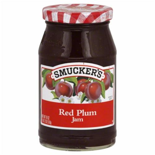 Smucker's Red Plum Jam Spread Perspective: front