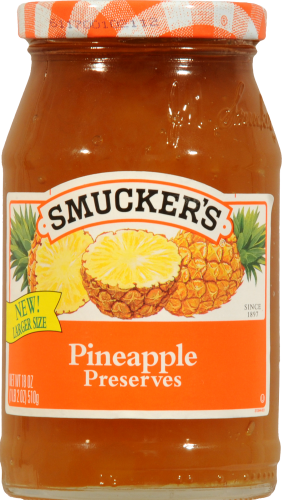 Smucker's Pineapple Preserves Spread Perspective: front