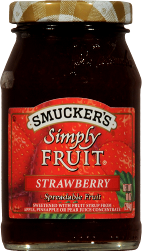 Smucker's Simply Fruit Strawberry Spread Perspective: front