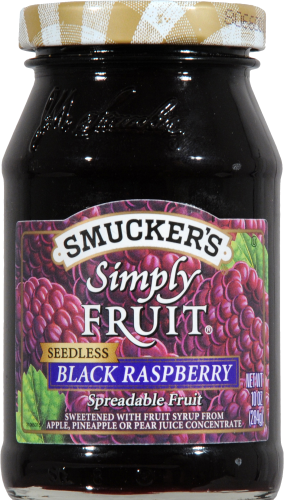 Smucker's Simply Fruit Seedless Black Raspberry Spread Perspective: front
