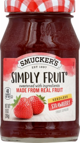 Smucker's Strawberry Seedless Simply Fruit Perspective: front
