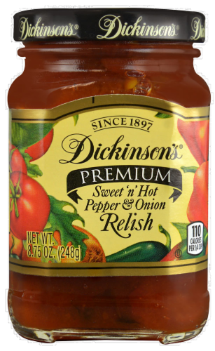 Dickinson's Sweet 'N' Hot Pepper & Onion Relish Perspective: front