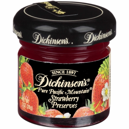 Dickinsons Strawberry Preserve, 1 Ounce -- 72 per case. Perspective: front