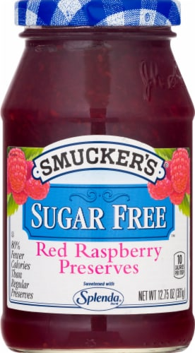 Smucker's Sugar Free Red Raspberry Preserves Perspective: front