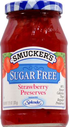 Smucker's Sugar Free Strawberry Preserves Spread Perspective: front