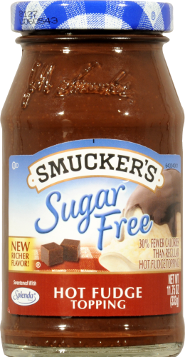 Smucker's Sugar Free Hot Fudge Topping Perspective: front