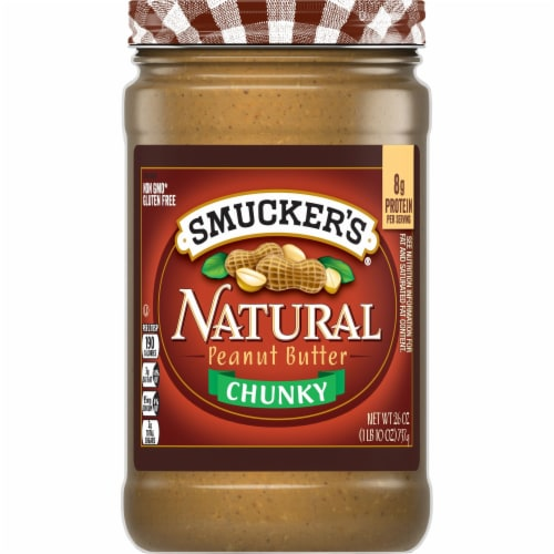 Smucker's Natural Chunky Peanut Butter Perspective: front