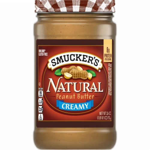 Smucker's Natural Creamy Peanut Butter Perspective: front