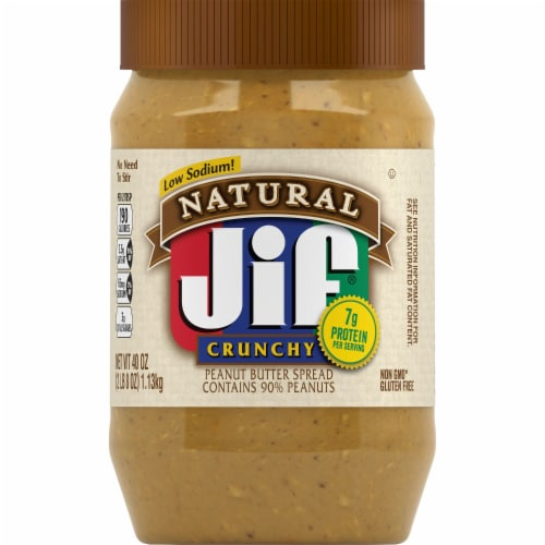 Jif Natural Crunchy Peanut Butter Spread Perspective: front