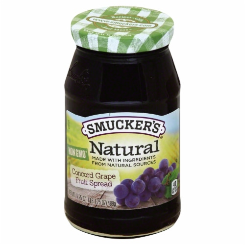 Smucker's Natural Concord Grape Fruit Spread Perspective: front