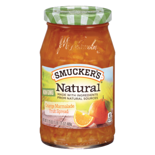 Smucker's Natural Orange Marmalade Fruit Spread Perspective: front