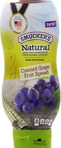 Smucker's Natural Squeeze Concord Grape Jelly Perspective: front