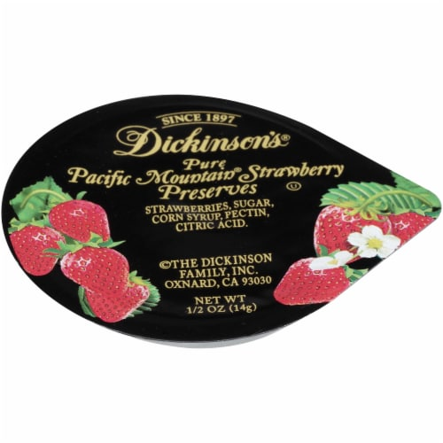 Dickinson Strawberry Preserves, 1/2 Ounce -- 200 per case. Perspective: front