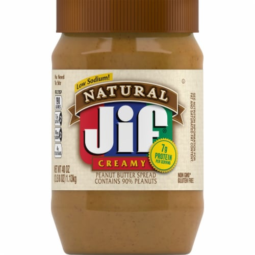 Jif Natural Creamy Peanut Butter Spread Perspective: front