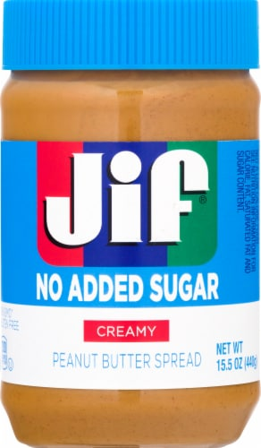 Jif No Added Sugar Creamy Peanut Butter Spread Perspective: front