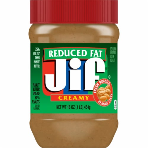 Jif Reduced Fat Creamy Peanut Butter Perspective: front
