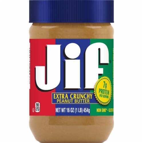 Jif Extra Crunchy Peanut Butter Perspective: front