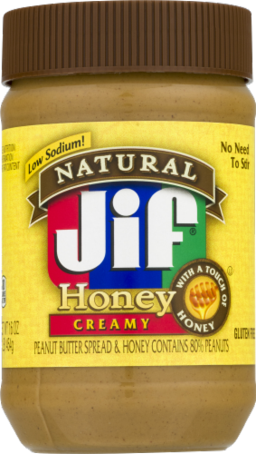 Jif Natural Creamy Honey Peanut Butter Perspective: front