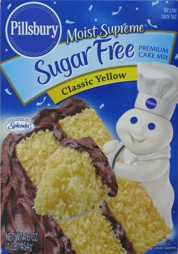 Pillsbury Sugar Free Classic Yellow Cake Mix Perspective: front