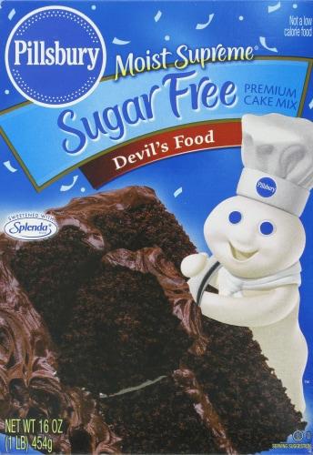 Pillsbury Sugar Free Devil's Food Cake Mix Perspective: front