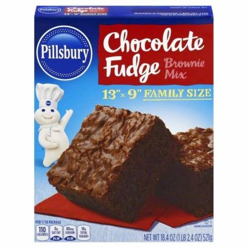 Pillsbury Chocolate Fudge Brownie Mix Perspective: front