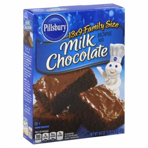 Pillsbury Milk Chocolate Brownie Mix Perspective: front