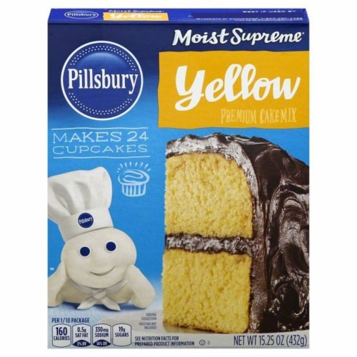 Pillsbury Moist Supreme Classic Yellow Cake Mix Perspective: front