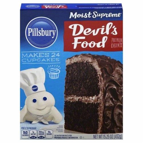 Pillsbury Moist Supreme Devil's Food Cake Mix Perspective: front