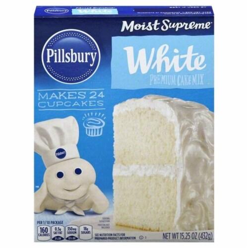Pillsbury Moist Supreme White Cake Mix Perspective: front