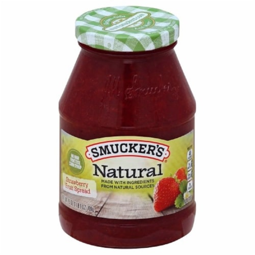 Smucker's Natural Strawberry Fruit Spread Perspective: front