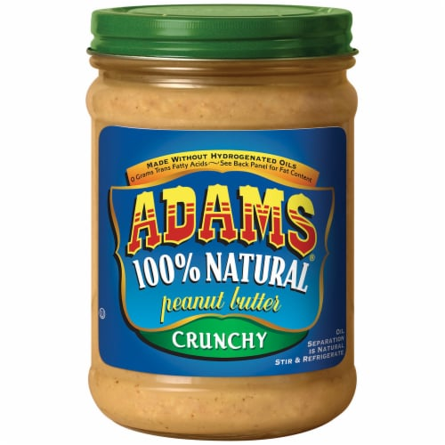 Adams 100% Natural Crunchy Peanut Butter Perspective: front
