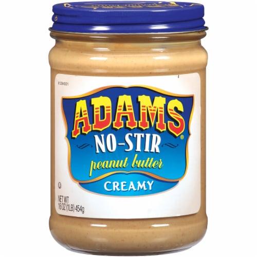 Adams No-Stir Creamy Peanut Butter Perspective: front