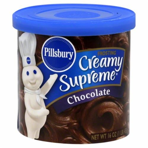 Pillsbury Creamy Supreme Chocolate Frosting Perspective: front